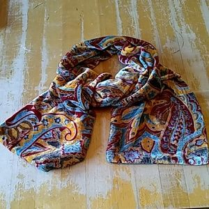 Nordstrom velour scarf fall colors